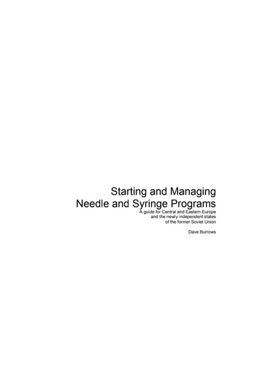 First page of PDF with filename: Needle_Syringe_Programs.pdf