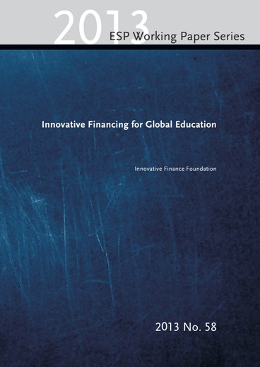 First page of PDF with filename: innovative-financing-global-education-20140106_0.pdf