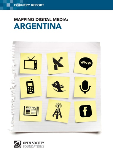 First page of PDF with filename: mapping-digital-media-argentina-20121107.pdf