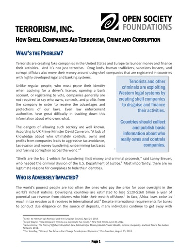 First page of PDF with filename: terrorism-inc-how-shell-companies-aid-terrorism-crime-and-corruption-20131024.pdf