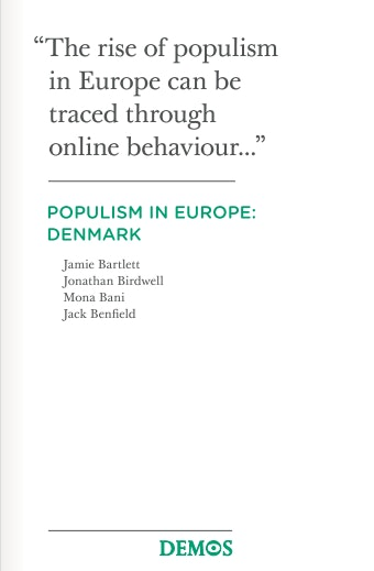 First page of PDF with filename: denmark-populism-20120522.pdf
