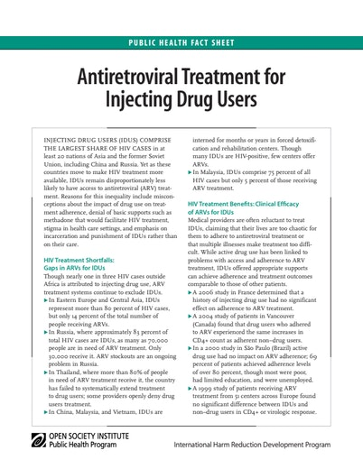 First page of PDF with filename: arvs4idusfactsheet_20080728_0.pdf
