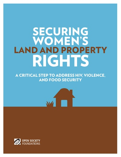 First page of PDF with filename: Securing-Womens-Land-Property-Rights-20140308.pdf