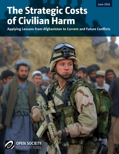 First page of PDF with filename: strategic-costs-civilian-harm-20160622.pdf