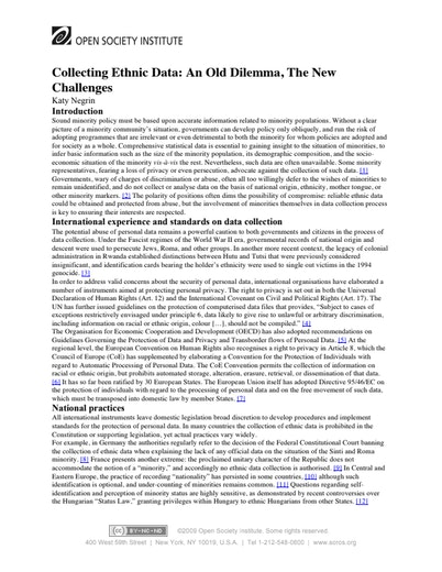 First page of PDF with filename: ethnic-data-20030403.pdf