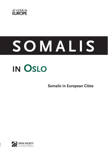 First page of PDF with filename: somalis-oslo-20131210_0.pdf