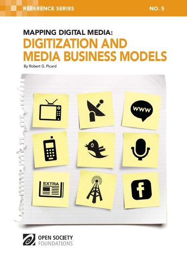 First page of PDF with filename: digitization-media-business-models-20110721.pdf