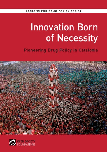 First page of PDF with filename: innovation-born-necessity-pioneering-drug-policy-catalonia-20150428.pdf