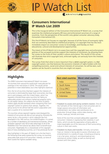 First page of PDF with filename: ip-watch-list-20100220.pdf