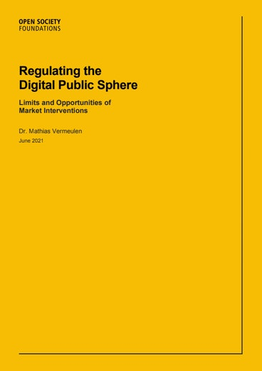First page of PDF with filename: regulating-the-digital-public-sphere-report-20210617.pdf