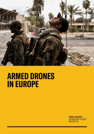 First page of PDF with filename: armed-drones-in-europe-20191104.pdf