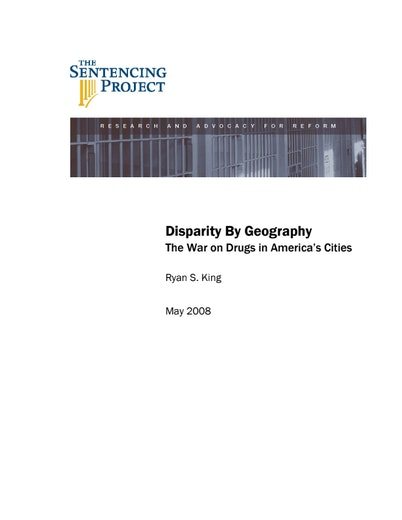 First page of PDF with filename: disparity_geography_20080501.pdf