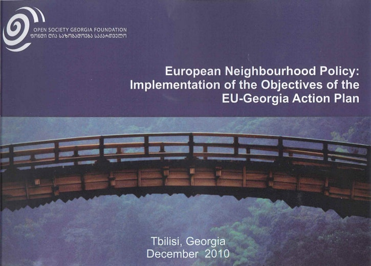 First page of PDF with filename: european-neighbourhood-policy-implementation-of-the-objectives-of-the-eu-georgia-action-plan-20101201.pdf