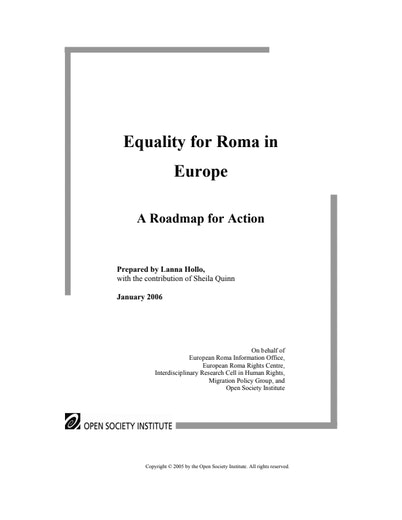 First page of PDF with filename: equality_2006.pdf
