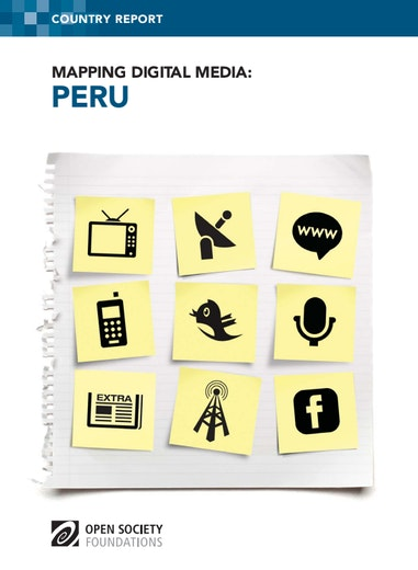 First page of PDF with filename: mapping-digital-media-peru-20121112.pdf