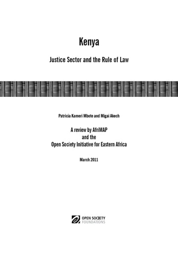 First page of PDF with filename: kenya-justice-law-20110315.pdf