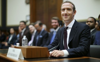 Mark Zuckerberg at a congressional hearing