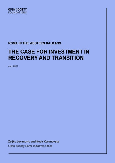 First page of PDF with filename: the-case-for-investment-in-recovery-and-transition-20210712pdf.pdf