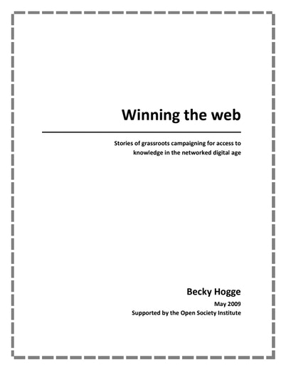 First page of PDF with filename: winning-the-web-20090501.pdf