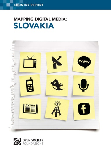 First page of PDF with filename: mapping-digital-media-slovakia-20130702.pdf