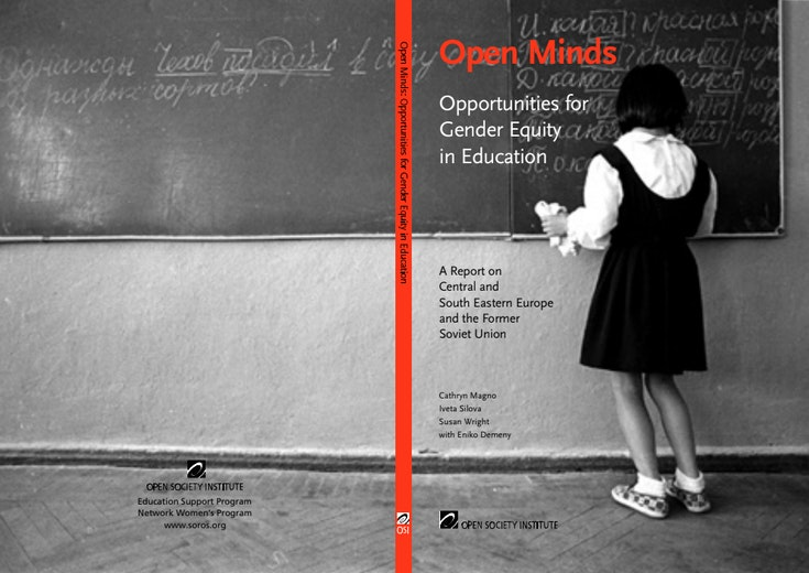 First page of PDF with filename: open-minds-opportunities-for-gender-equity-in-education-20040101.pdf