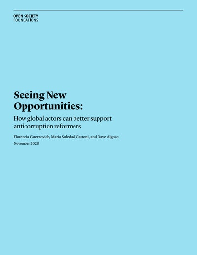 First page of PDF with filename: seeing-new-opportunities-how-global-actors-can-better-support-anticorruption-reformers-20201125.pdf