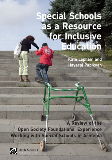 First page of PDF with filename: special-schools-resource-inclusive-education-20121005.pdf