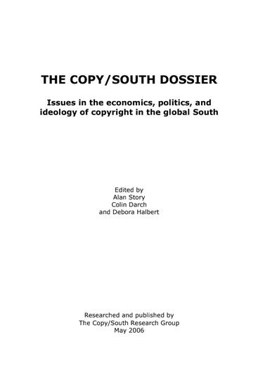 First page of PDF with filename: csdossier_20060613.pdf