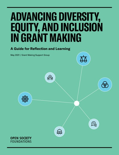 First page of PDF with filename: advancing-diversity-equity-and-inclusion-in-grant-making-20210706.pdf