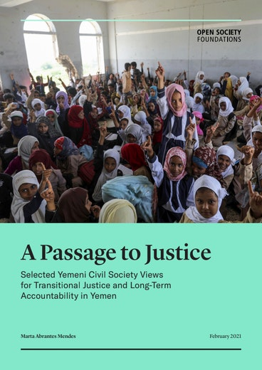 First page of PDF with filename: a-passage-to-justice-20210208.pdf