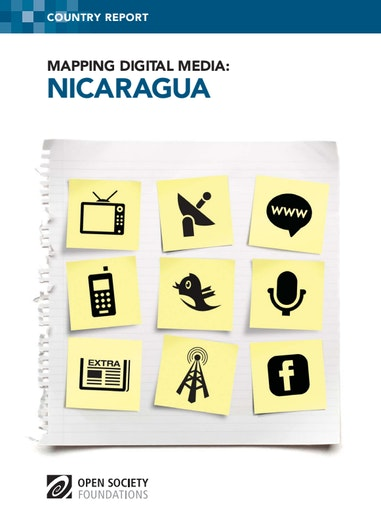 First page of PDF with filename: mapping-digital-media-nicaragua-20140306_0.pdf