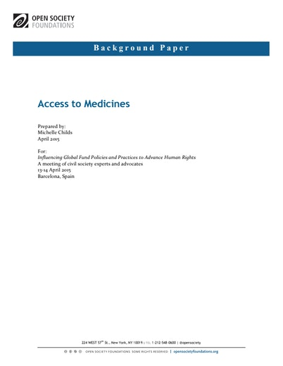 First page of PDF with filename: access-medicines-and-global-fund-20150611.pdf