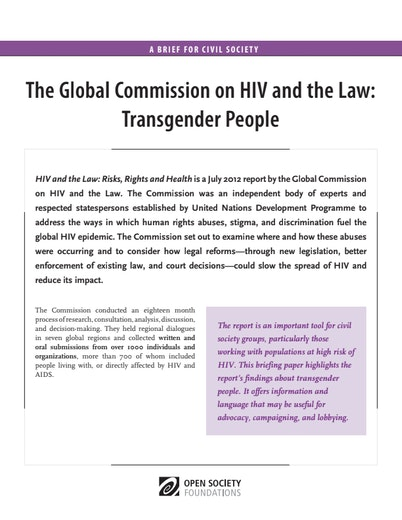 First page of PDF with filename: HIV-and-the-Law-Transgender-People-20130930_0.pdf