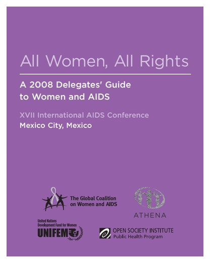 First page of PDF with filename: womenaidsguide.pdf