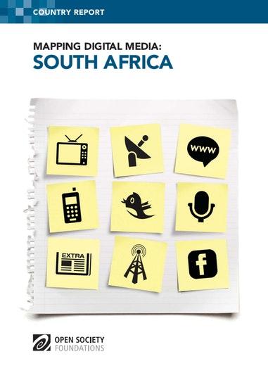 First page of PDF with filename: mapping-digital-media-south-africa-20120416.pdf