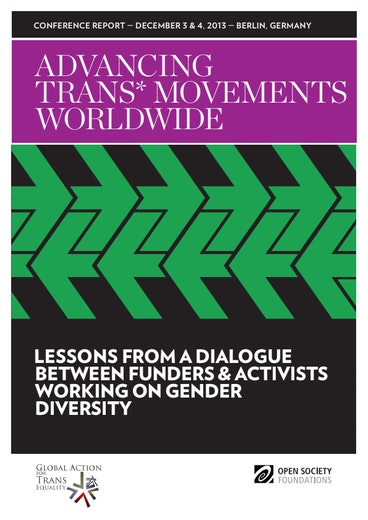 First page of PDF with filename: advancing-trans*-movements-worldwide-20140917.pdf