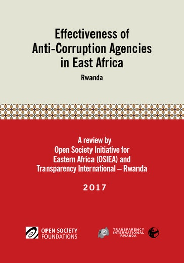 First page of PDF with filename: effectiveness-of-anticorruption-agencies-in-east-africa-rwanda-20170530.pdf