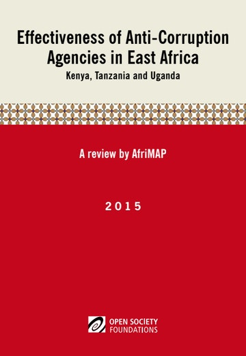 First page of PDF with filename: effectiveness-of-anticorruption-agencies-in-east-africa-20160116.pdf