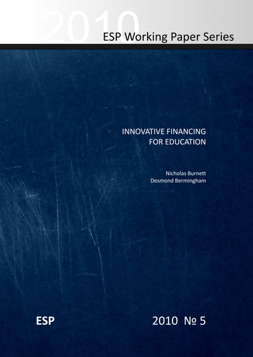 First page of PDF with filename: innovative-financing-education-20100831.pdf
