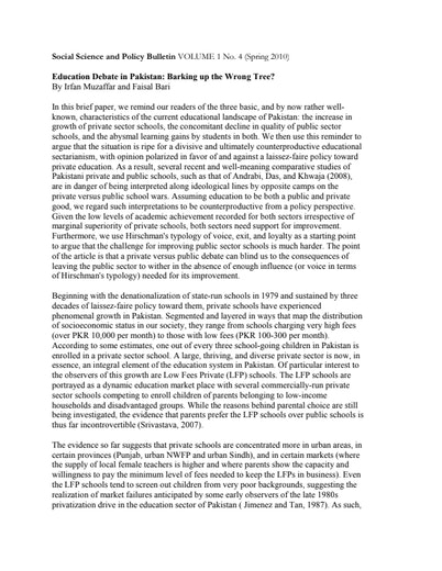 First page of PDF with filename: education-debate-20100601.pdf