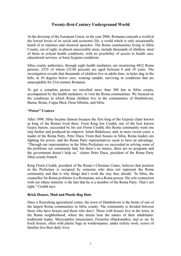 First page of PDF with filename: sibiu_20060711.pdf