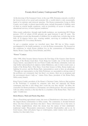 First page of PDF with filename: sibiu_20060711.pdf