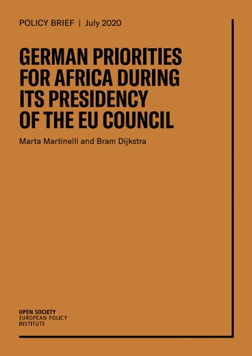First page of PDF with filename: german-priorities-for-africa-during-its-presidency-of-the-eu-council-20200915.pdf