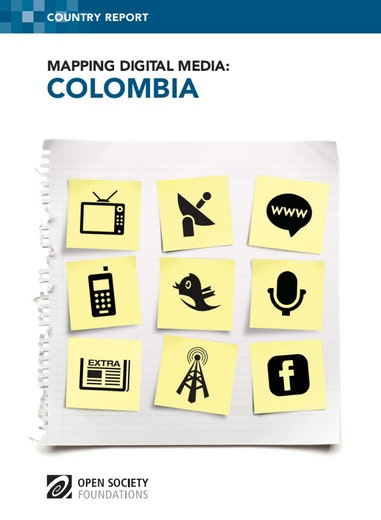 First page of PDF with filename: mapping-digital-media-colombia-20120830.pdf