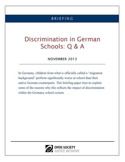 First page of PDF with filename: briefing-german-schools-qanda-eng.pdf