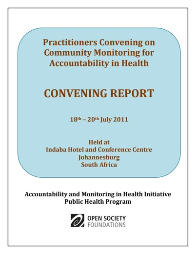 First page of PDF with filename: practitioners-convening-report-04102012.pdf