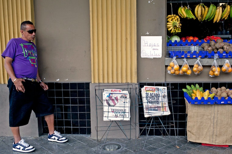 Man at a fruit stand