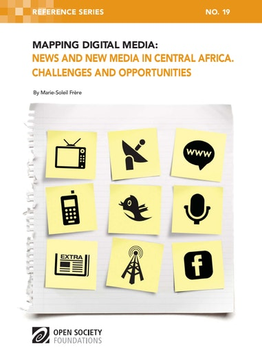 First page of PDF with filename: mapping-digital-media-central-africa-20130103.pdf