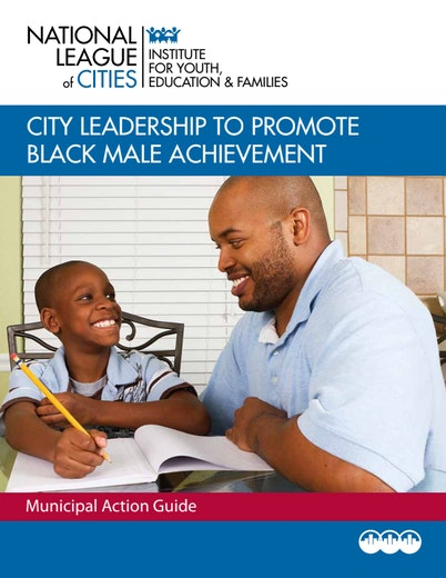 First page of PDF with filename: city-leadership-promote-black-male-achievement-20121001.pdf
