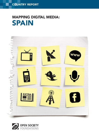 First page of PDF with filename: mapping-digital-media-spain-20131023.pdf